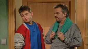 Daniel ist dem Wettrennen mit Lukas nicht gewachsen.