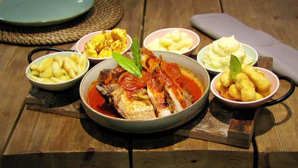 Garniert und Beigelegt - Gerichte mit Pfiff