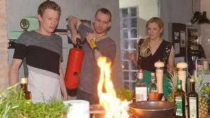 Küche in Flammen