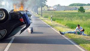 Patrick und Dominik haben einen Unfall