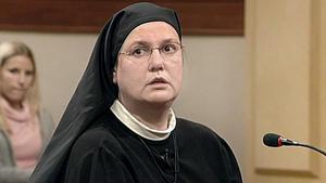 Nonne auf Konfrontationskurs